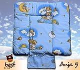 Best For Kids BESONDERE KUSCHELWEICHE Wickelauflage 100% Baumwolle Wickeltischauflage 3 in 1 in 3 Größe 70x70 mit Öko Tex Standart (Anja5)