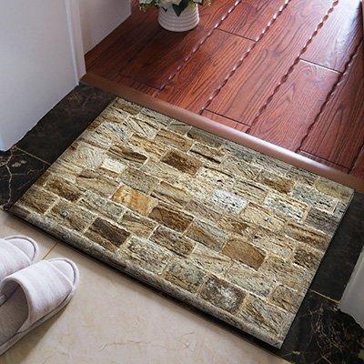 WANG-shunlida Fußmatte modernen Nordischen minimalistischen Steinfliese texturierte Fußmatte Wc Rutschfeste Fußmatte Schlafzimmer Teppich, 50 X 80 cm J 192-02 Kulturelle Mauer aus Stein - Texturierte Stein