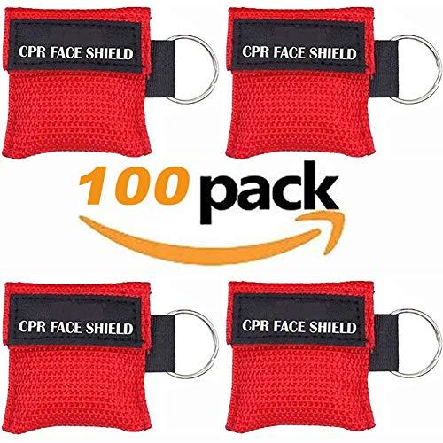 LSIKA-Z Paquete 100 Piezas CPR Máscara Llavero Anillo
