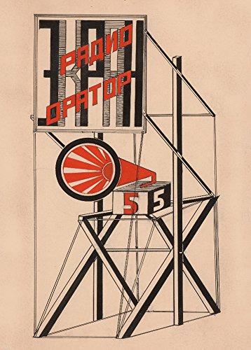 GUSTAV KLUTSIS Design für Lautsprecher, Nr. 5 der russischen Sowjetunion c1922 A3, 250 g/m²,...