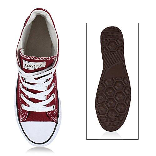 Donna Uomo Sneaker Unisex Alta Sneakers Denim Allacciate Sneakers Camouflage Sneakers Scarpe In Tessuto Glitter Grandi Taglie Flandell Rosso Scuro