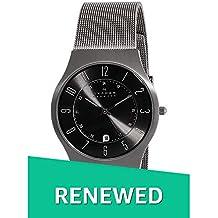 (Renewed) Skagen Titanium Analog Grey Dial Men's Watch - 233XLTTM#CR