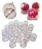CRYSTAL KING 20 Stück Acryl-Kugeln 8 cm Bastel-Kugeln Acrylkugel Transparent teilbar Durchsichtig Kunstoff-Kugel Acryl Acrylic Ball Acrylkugeln 80mm