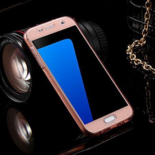 Coque Samsung Galaxy A3 (2015 Version) Etui,Vandot Ultra Mince Housse Samsung Galaxy A3 (2015 Version) Silicone Transparent Case pour Samsung Galaxy A3 (2015 Version) Coque de Protection en TPU avec A Transparent-Rose Or