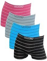 4er Pack Herren Boxershorts mit Streifen aus Microfaser in verschiedenen Farben