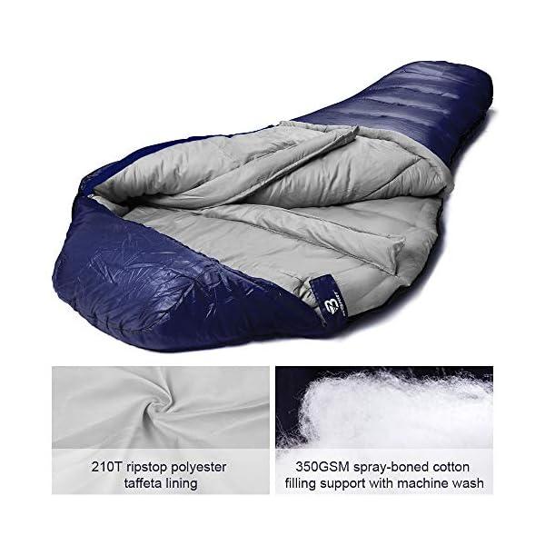 Bessport Mummy Sleeping Bag -10 Degree Celsius - 4 Season Backpacking Sleeping Bag for Adults & Kids – Lightweight Warm… 5