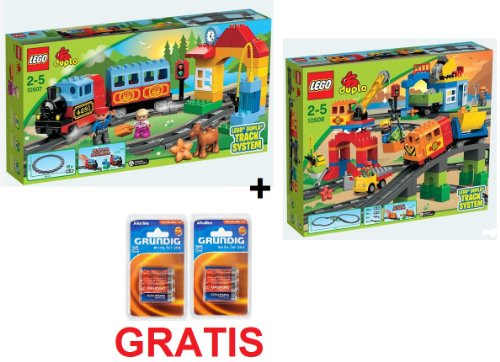 Lego Duplo Train Set 10507 & 10508 + baterías