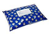 Gold und Blau Geschenk, beste vom Versandbeutel Funky Postsendungen bags-perfect bunt gemustert Geschenk Tasche für Schmuck, Kleidung, Mode items-small (24x 37cm) leicht und waterproof-pack