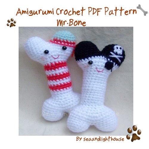 MR.Bone-Amigurumi Crochet PDF Pattern (English (Patterns Bone)