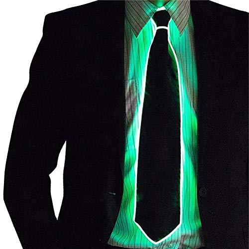 Light Led Up Kostüm - Egosy LED Herren Light Up Krawatten, Kostümzubehör Light EL Tie für Halloween Elegante Party Kostüme 'Bar Performance Hut