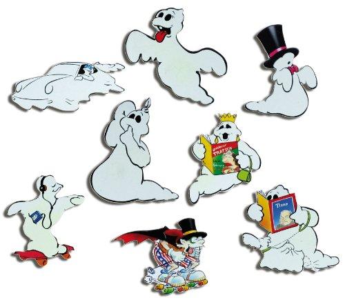 Kühlschrankmagnete Comic Geister Magnete für Magnettafel Kinder stark 8er Set lustig mit Motiv - Deko-ideen Arbeit Für Bei Halloween Der