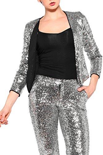 JEZZELLE - Veste de tailleur - Femme silver