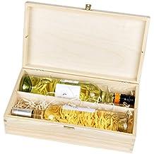 Botellas de Vino Caja de Regalo con Tapa y candado para 2botellas de vino