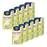 Krüger Chai Latte Fresh India, Ingwer-Zitronengras, mildes Milchtee Getränk, 10er Pack, 10 x 10 Portionsbeutel