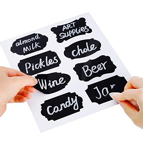 Eachgoo 80 Kitchen Labels, schwarz · Küchen Etiketten, Gewürzgläser & Marmeladen Aufkleber zum Beschrifte