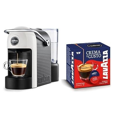 Lavazza Jolie Freestanding semi-automática Coffee Machine in Capsules 0.6L 1tazas Black, White–Coffee (Freestanding, Coffee Machine in Capsules, 0.6l, Coffee Capsule, 1250W, Black, White)