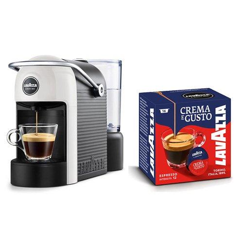 Lavazza Caffè Jolie + 64 Capsule Crema und Gusto, 1250 W, 0.6 Liter, Weiß