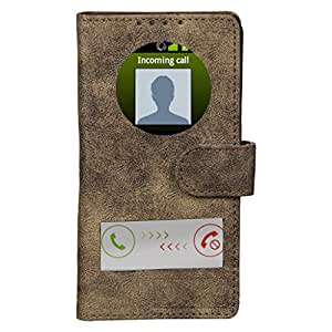 Dsas Artificial Leather Flip cover with screen Display Cut Outs designed for Apple iphone 6 Plus
