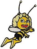 alles-meine.de GmbH Bügelbild -  die Kleine Biene Maja  - 6,5 cm * 7 cm - Aufnäher - Applikation / Kinder - Maya Bienen - Honigbiene / Honig - Aufbügelbild