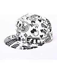 Rawdah Visera ajustable Moda Unisex gorra snapback sombrero de hip hop (Blanco)
