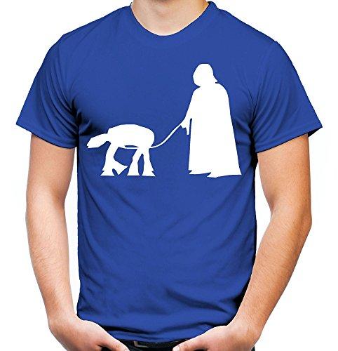 Darth Vader Haustier Männer und Herren T-Shirt | Star Wars Vintage Empire Geschenk (XXL, Blau) (Plus Size Fett Kostüme)