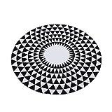 ZhongYi Nordische geometrische Anti-Rutsch gedruckt Schlafzimmer Wohnzimmer-mat