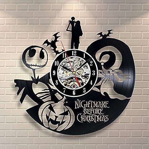 La pesadilla antes de Navidad Love Story–Reloj de pared Decora tu hogar con arte grande Jack y Sally Disney moderno–Mejor regalo para él y para ella–Win un premio para