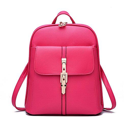 Mefly Tutti-Match Inverno Scuola Studente Sacco Bag Rosa Rose red