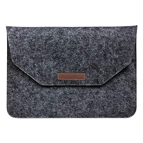 Laptoptasche für 11.6 Zoll Notebook MacBook Tablet Uni Tasche Hülle mit Nebenfach und Klettverschluss