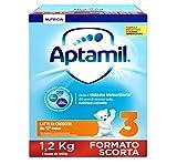 Aptamil 3 Latte di Crescita in Polvere - 3 Confezioni da 1,2kg