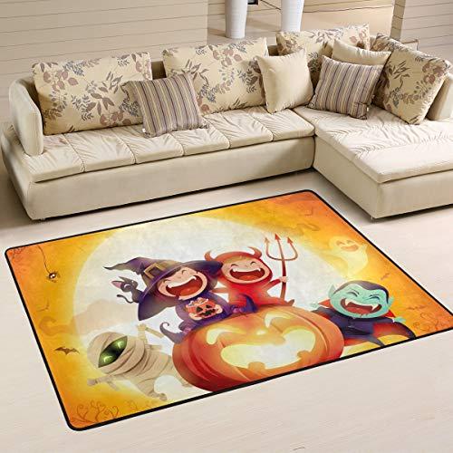 (JSTEL Waschbare Weiche Halloween-Kostüm Party Area Teppich 90 x 60 cm (2 x 3 Fuß) Wohnzimmerteppich Gemütliche Schlafzimmer Läufer Teppich, Multi, 180 x 120 cm)
