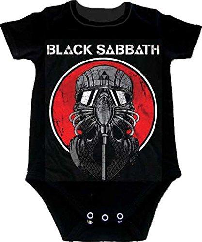 Black Sabbath Mask Never Say Die bebé Romper Camiseta