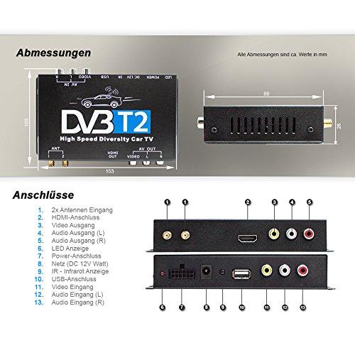 Xomax Dvb T2 Receiver Für Auto Kfz H265 Hevc Tv Box Mit