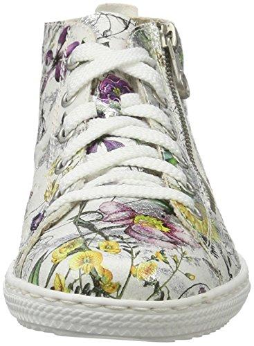 Rieker L9426, Sneakers Hautes Femme Multicolore (Ice-multi / 90)