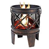 Feuerstelle / Feuerkorb ANTIK in Antik-Rost-Optik