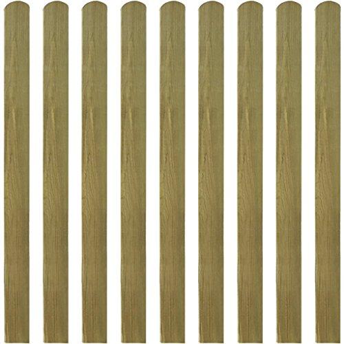 Festnight 10 Stücke Zaunlatte Zaunbrett aus Imprägniertes Holz Latte Höhe 120cm für Garten Patio Terrasse