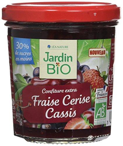 Jardin Bio Confiture Extra Fraise Cerise Cassis 320 g - Lot de 3