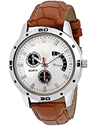 Xurious Enterprise New Arrival Special Collection Brown Round White Dial Brown Leather Strap And Display Day Of...