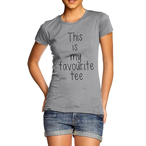 TWISTED ENVY  Damen T-Shirt Hellgrau