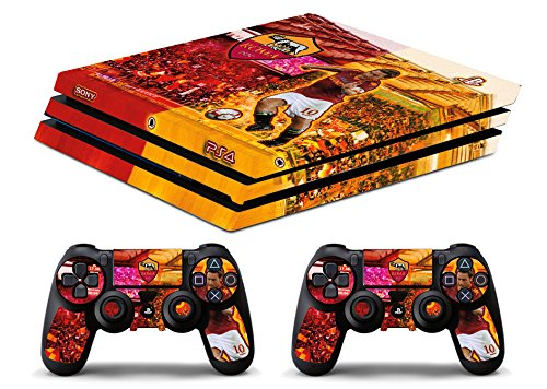 Skin Ps4 PRO -ROMA TOTTI - limited edition DECAL COVER ADESIVA Playstation 4 Slim SONY BUNDLE - VINILE LUCIDO