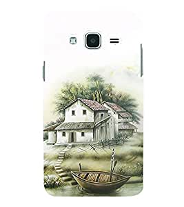 HiFi Designer Phone Back Case Cover Samsung Galaxy J3 (6) 2016 :: Samsung Galaxy J3 2016 Duos :: Samsung Galaxy J3 2016 J320F J320A J320P J3109 J320M J320Y ( Vacations Boat House Green )