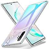 ESR Coque pour Samsung Galaxy Note 10 Plus, Bumper Etui de Protection Transparent en Silicone TPU Mince-Souple, Housse Silicone Flexible pour Galaxy Note10+ 2019 (Série Essentiel Zéro, Transparent)