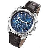 Esprit Herren-Armbanduhr Chronograph Quarz Leder ES107581002