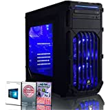 ADMI ULTRA GAMING PC - Six Core High Spec LED : AMD FX-6350 High Spec Blue LED, Home, Family, Multimedia Desktop Gaming Computer with Platinum Warranty: Powerful Six Core 4.20GHz Turbo CPU, Nvidia GTX 1050 Ti 4GB HDMI Graphics Card, 8GB 1600MHz DDR3 RAM, Seagate 1TB Hard Drive + SSD (SSHD), HDMI Output 1080p, High Speed USB 3.0, 150Mbps WiFi included, Pre-Installed with Windows 10