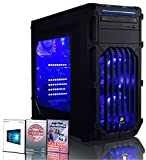 ADMI FX-6350 High Spec LED blu, casa, famiglia, computer desktop desktop multimediale con platino Garanzia: Powerful Six Core 4.20GHz Turbo: ADMI ULTRA GAMING PC - Six Core High Spec LED, Home, Famiglia CPU, scheda grafica Nvidia GTX 1050 Ti 4GB, memoria RAM da 8GB 1600MHz DDR3, archiviazione SSD da 240GB, uscita HDMI 1080p, USB 3.0 ad alta velocità, 150Mbps WiFi incluso, preinstallato con Windows 10