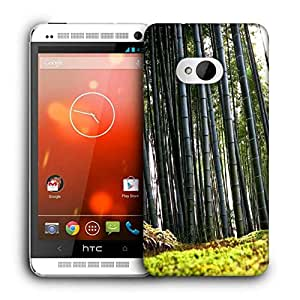 Snoogg Bamboo Tree Printed Protective Phone Back Case Cover For HTC One M7