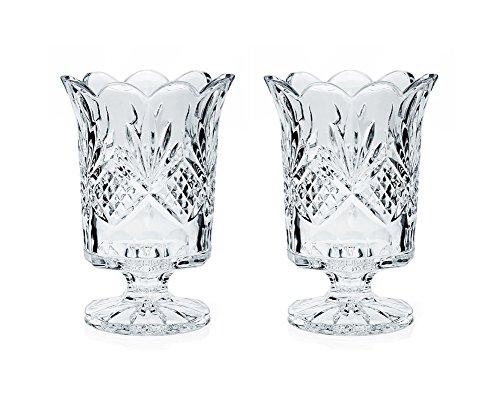 GODINGER® Crystal Dublin Hurricane Kerzenhalter, 2 Karat Set Godinger Crystal