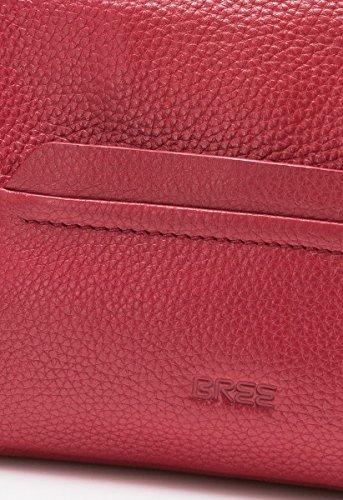 BREE Faro 1 | Hobo Cross Shoulder |Größe S | Leder-Umhängetasche | silver grey brick red