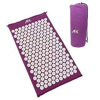 AFX Akupressur-Matte – 72 x 42 x 3 cm – Massage-Matte, Shakti/Bett der Nägel/Massage/Wellness / Entspannungs-Matte (LILA)