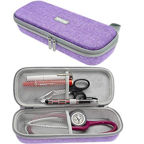 Stethoskop-Tragetasche, passend für 3M Littmann Stethoskop und Krankenschwester-Zubehör, Violett
